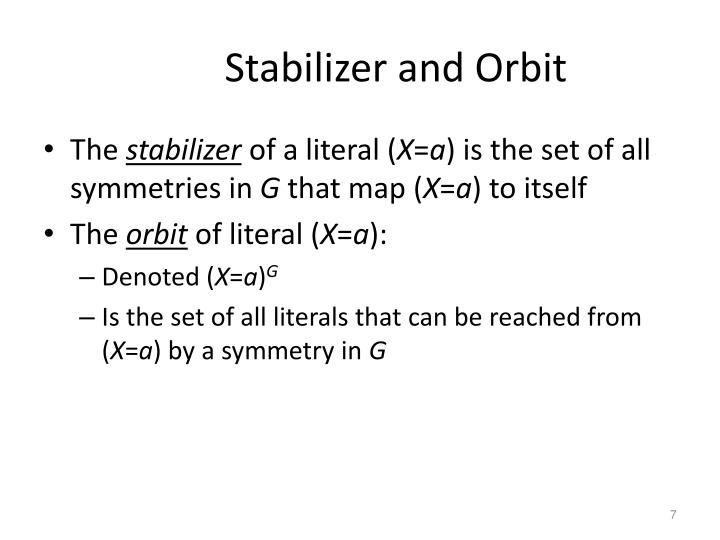 Stabilizer and Orbit