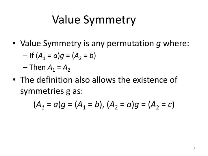 Value Symmetry