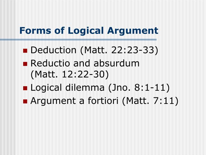 Forms of Logical Argument