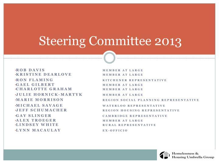 Steering Committee 2013
