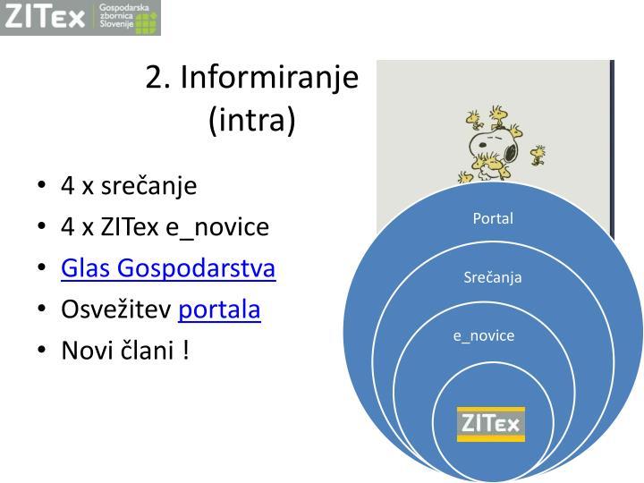 2. Informiranje