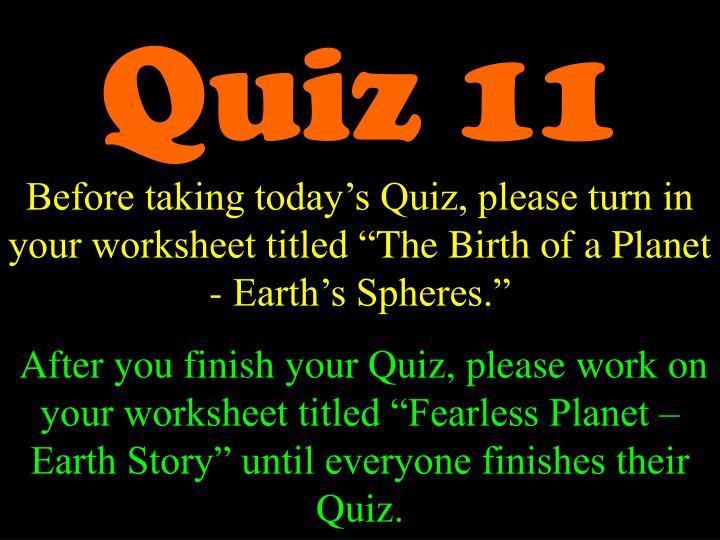 Quiz 11
