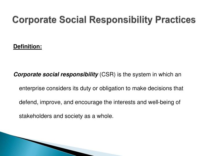 Corporate social responsibility practices2