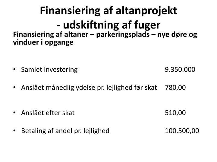Finansiering af