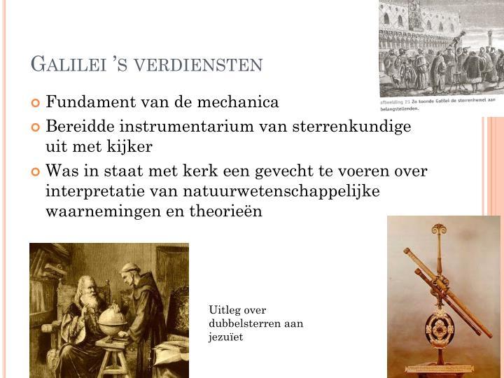 Galilei 's verdiensten