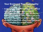 your brain and your personality