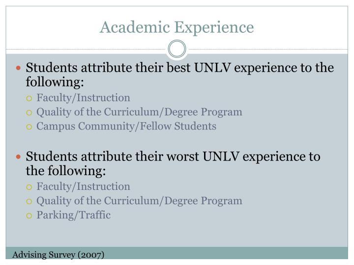 Academic Experience