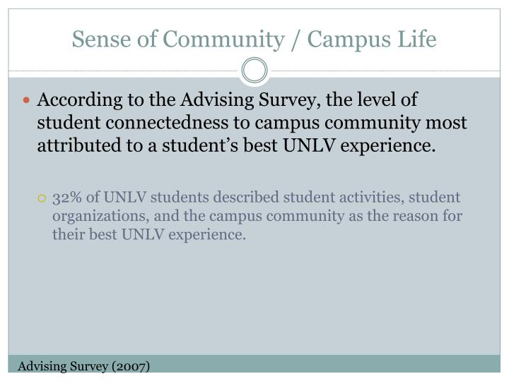 Sense of Community / Campus Life
