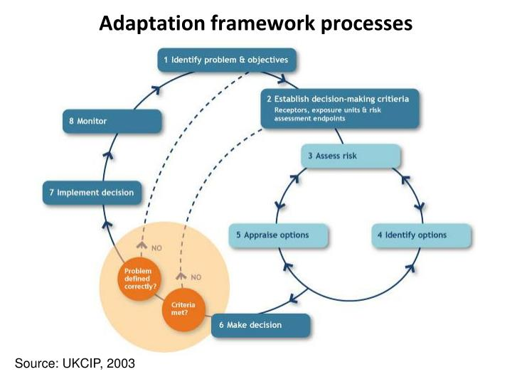 Adaptation framework processes