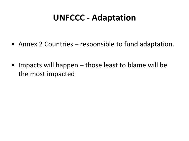 UNFCCC - Adaptation