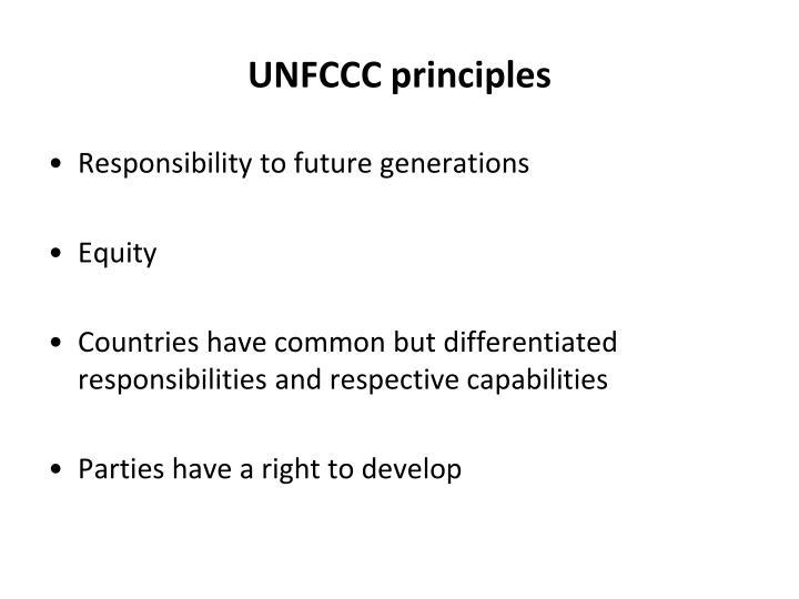 UNFCCC principles