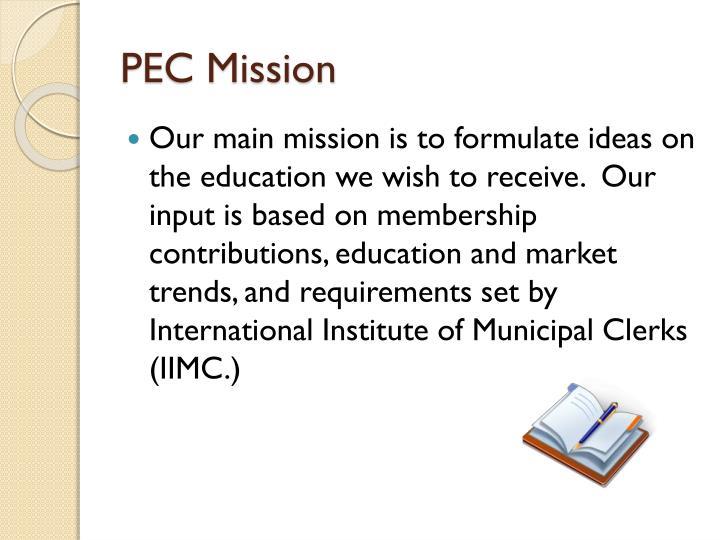 PEC Mission