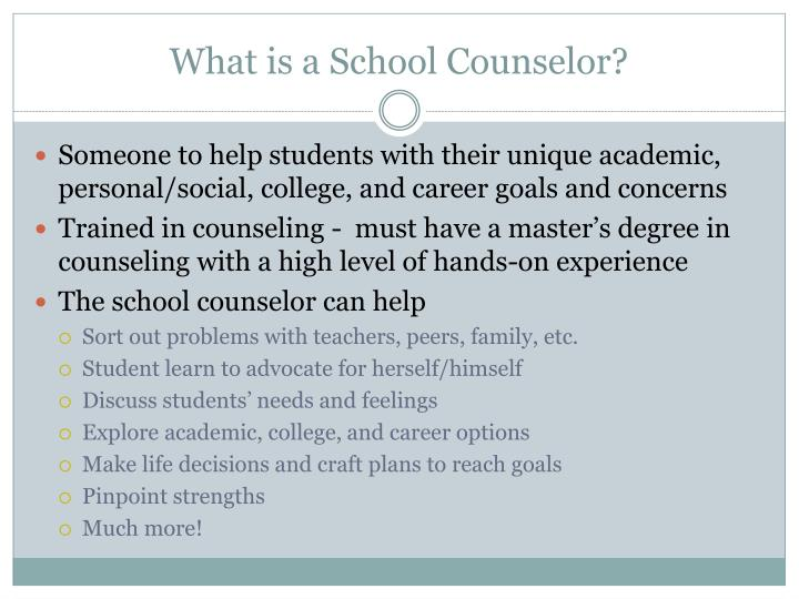 What is a School Counselor?