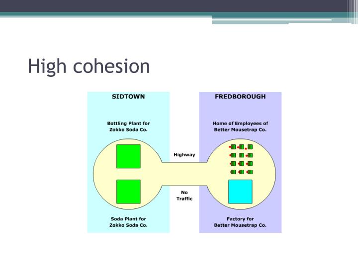 High cohesion
