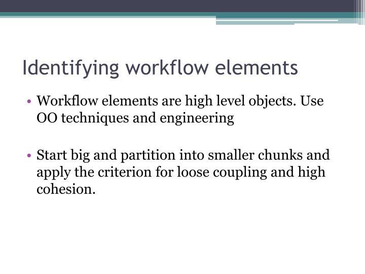 Identifying workflow elements