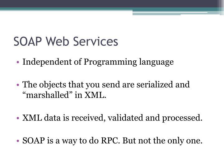 SOAP Web Services
