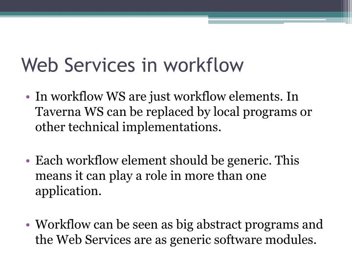 Web Services in workflow