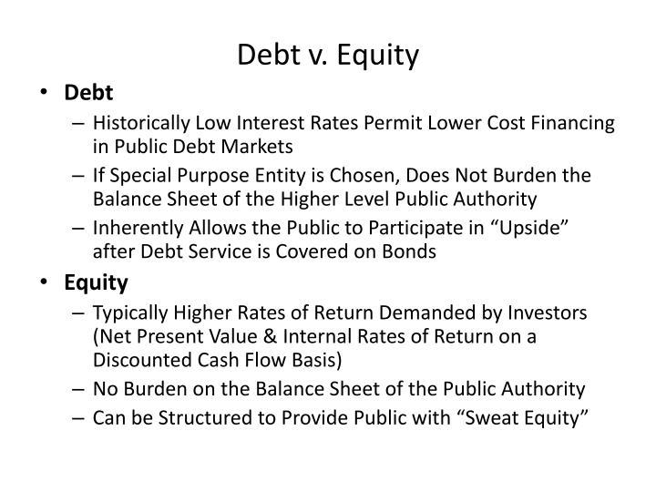 Debt v. Equity