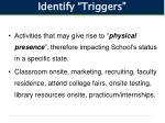 identify triggers