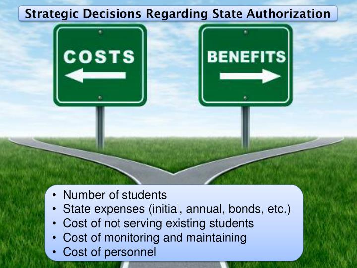 Strategic Decisions Regarding State Authorization