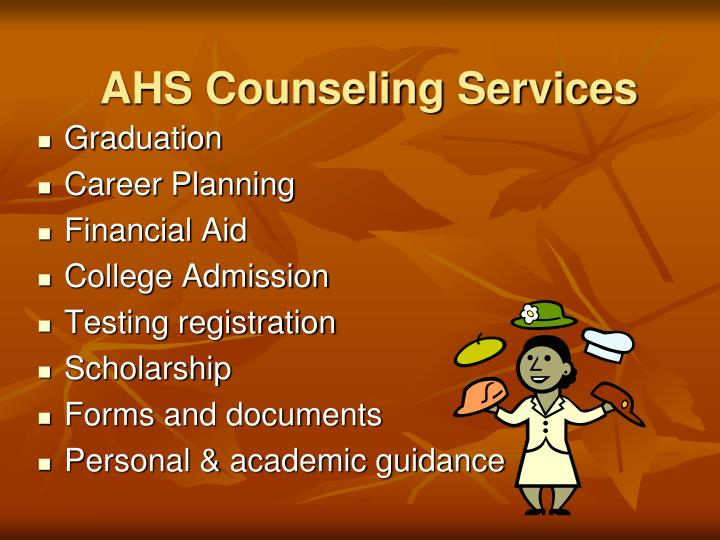 Ahs counseling services