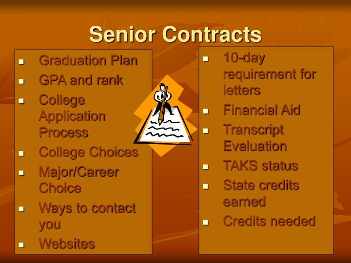 Senior Contracts