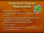texas grant program requirements