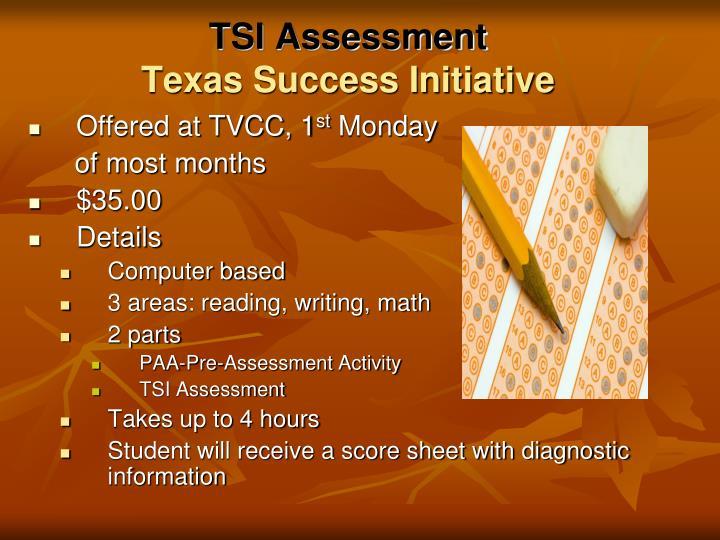 TSI Assessment