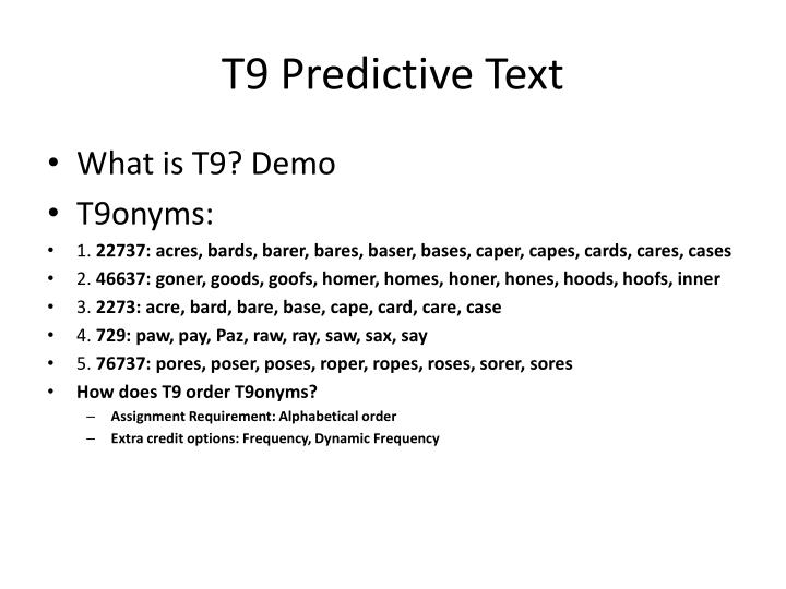 T9 predictive text