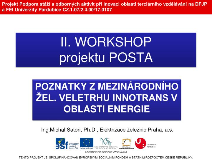 Ii workshop projektu posta