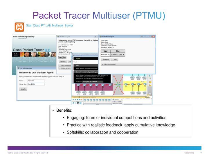 Start Cisco PT LAN Multiuser Server