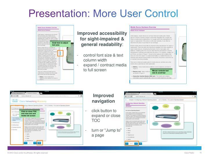 Presentation: More User