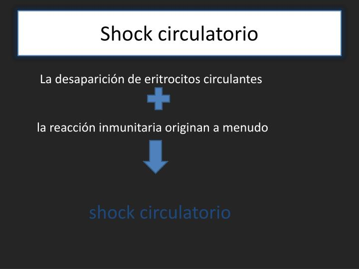 Shock circulatorio
