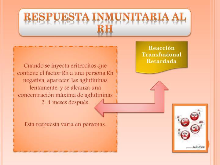 Respuesta Inmunitaria al Rh