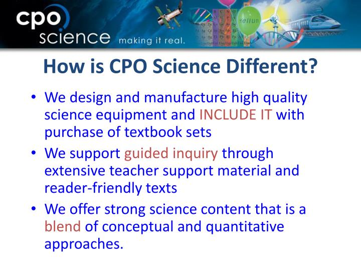 How is cpo science different
