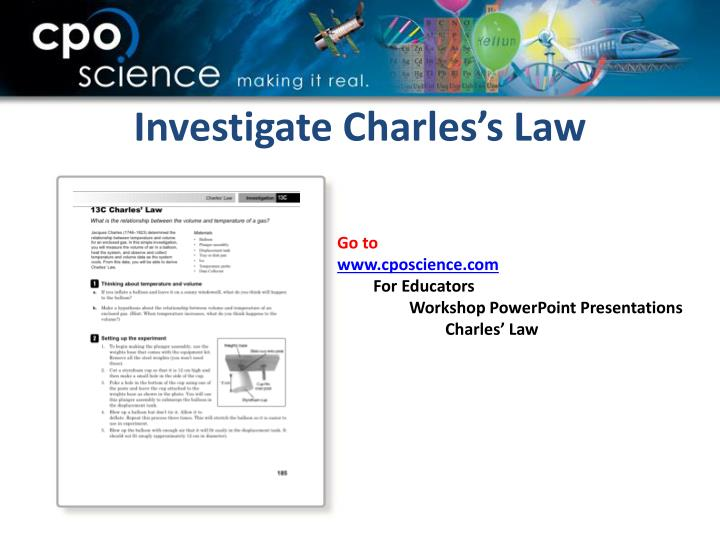 Investigate Charles's Law