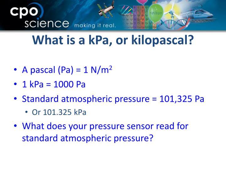 What is a kPa, or kilopascal?