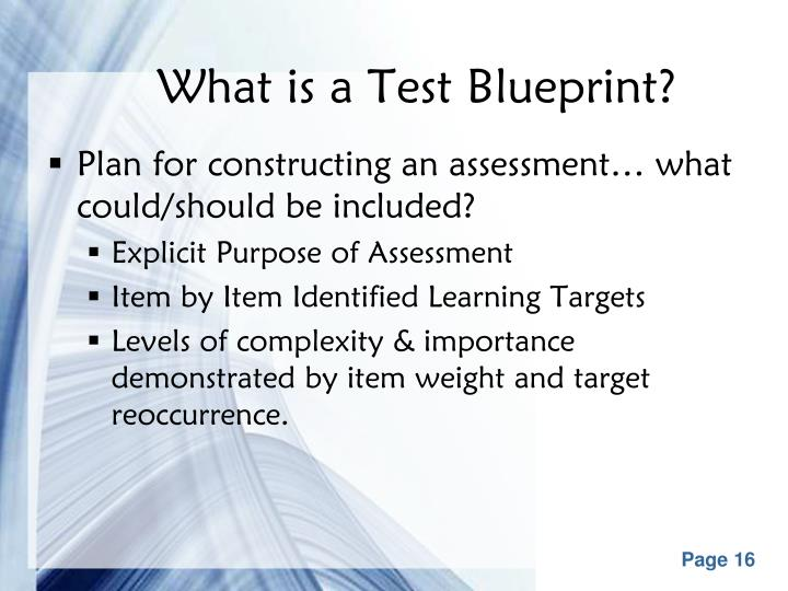 What is a Test Blueprint?