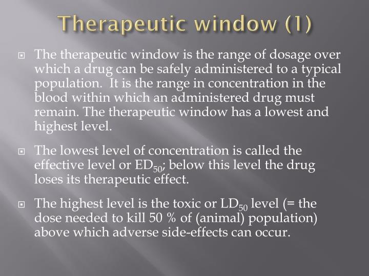 Therapeutic window (1)