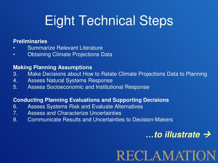 Eight Technical Steps
