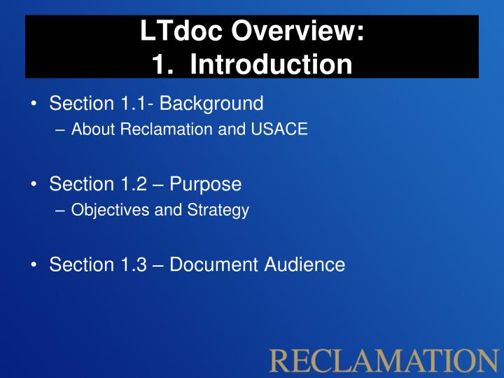 LTdoc Overview:
