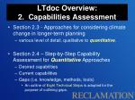 ltdoc overview 2 capabilities assessment1