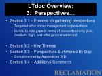 ltdoc overview 3 perspectives