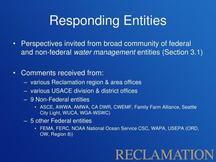 Responding Entities