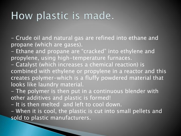 How plastic is made.