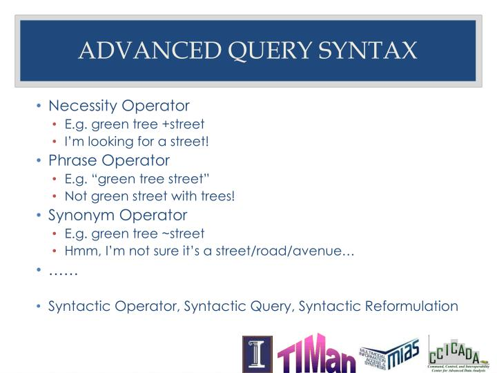 Advanced query syntax