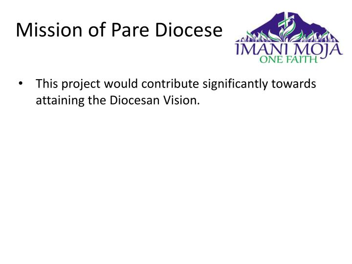 Mission of Pare Diocese