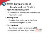 components of benchmarks of quality