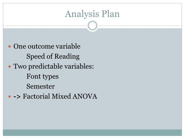 Analysis Plan