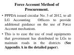 force account method of procurement